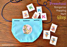 Letter K is for Kangaroo! Preschool Hopping Game #kidsactivities #preschool