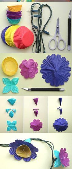 Una gran idea para decorar su habitación con luces y color ¿Qué tal?