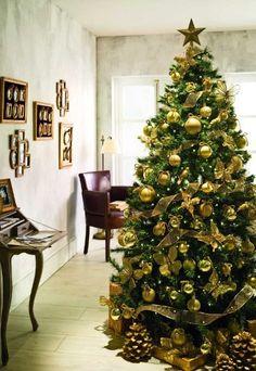 Adornar el árbol de dorado - Árboles de Navidad: Ideas para decorar el árbol de Navidad