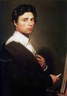 Jean Auguste Dominique Ingres, self-portrait... Ahh... to draw and paint as he did.....