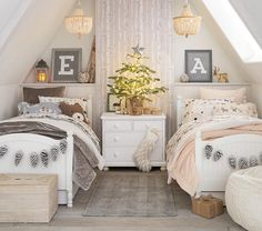 Shop Pottery Barn Kids' Reindeer Friends Shared Kids Room for shared bedroom ideas and inspiration. Find furniture, bedding and more that will be perfect for siblings sharing a room. Boy And Girl Shared Room, Little Girl Rooms, Boy Girl Room, Baby And Toddler Shared Room, Kids Room For Girls, Cool Kids Rooms, Toddler Girl, Shared Bedrooms, Teen Girl Bedrooms