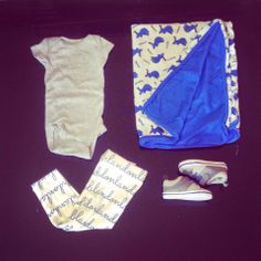 Detroit Lions outfit - Mama Bear and Baby Cub