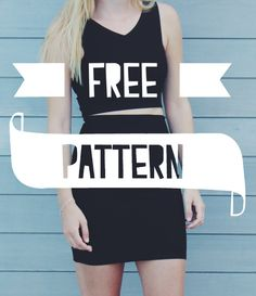 Me & Sew: CROP TOP and HIGH WAISTED SKIRT - FREE PATTERNS