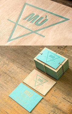 Unusual Letterpress Printed Wooden Business Card