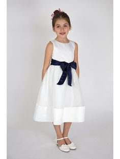 Scoop Flower Girl Dresses with Bowknot 402010