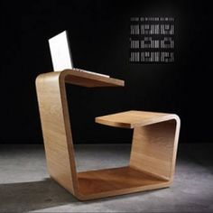 From australian designer Alexander Lotersztain. Remind me of a design version of  my primary school integrated desk and chair furniture.