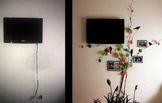 Como esconder o fio da tv