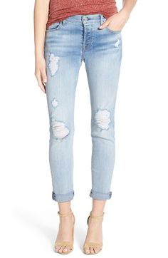 7 For All Mankind® 'Josefina' Destroyed Boyfriend Jeans