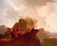 George Caleb Bingham ~ De verborgen vijand ~ 1845 ~ Olieverf op doek ~ 74,3 x 92,7 cm. ~ Stark Museum of Art, Orange (Texas)