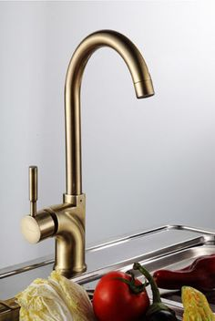Monobloc-Brush-Brass-Single-Lever-Kitchen-Tap-Mixer-Faucet-7076