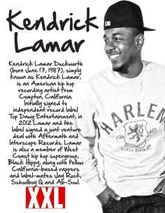 here my bio for kendrick lamar