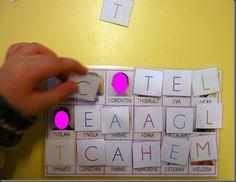Initiale; écrire son prénom en picot; retrouver son prénom; nombre de lettres dans le prénom