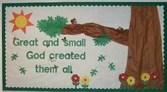 Classroom Displays and Bulletin Boards Homepage Creation Bulletin Boards, Bible Bulletin Boards, Christian Bulletin Boards, Spring Bulletin Boards, Preschool Bulletin Boards, Sunday School Rooms, Sunday School Classroom, Sunday School Lessons, Sunday School Crafts