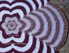 Teppich häkeln - crochet rug - FALANDO DE CROCHET: TAPETE FLOR EM CROCHE