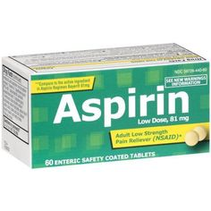 PL Developments Adult Low Strength Aspirin 81mg Coated Tablets, 60 ct