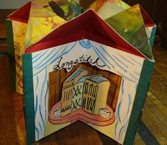 The Book Carousel by Kathy Steinsberger. Each section of this tunnel book is devoted to a different book structure. LOVE!
