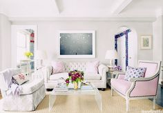 Rhyme: Room Of The Week: Pale Pinks, Lilacs, & Lucite