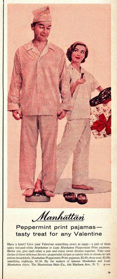 Manhattan Pajamas Ad (1950's)