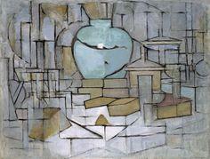 Stilleven met gemberpot II ~ 1912 ~ Olieverf op doek ~ 91,5 x 120 cm. ~ Solomon R. Guggenheim Museum, New York