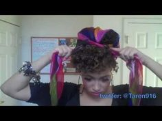 Hair Scarf Styling Tut to accompany Vogue Look 5 pin