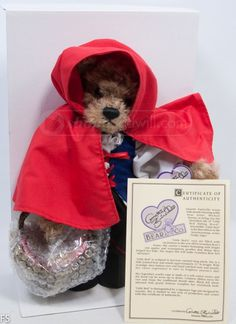 shopgoodwill.com: Annette Funicello Little Red Riding Hood Bear