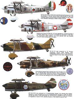 Fiat Cr 32 - Varie aviazioni