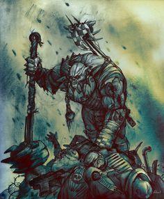 metalboxes:  Warhammer 40k Ork Nob by Peter1punk