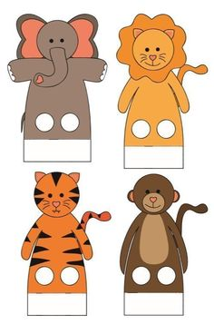 Ideas Crafts Pattern Finger Puppets 2020 for Kids Kindergarten Kids Crafts, Animal Crafts For Kids, Craft Stick Crafts, Felt Crafts, Preschool Activities, Art For Kids, Craft Ideas, Finger Puppet Patterns, Animal Cutouts