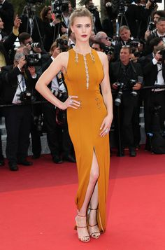 """2016 Cannes Film Festival - Gala Weiss in Mugler at Opening Gala and """"Cafe Society"""" Premiere"""