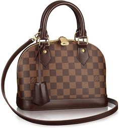 Authentic Louis Vuitton Alma BB Cross Body Handbag Article: Made in France Louis Vuitton Damier, Louis Vuitton Handbags, Louis Vuitton Speedy Bag, Louis Vuitton Monogram, Lv Handbags, Fashion Handbags, Fashion Bags, Replica Handbags, Fashion Women