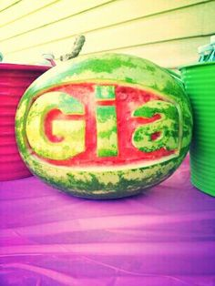 Gia's 1st birthday...watermelon theme.