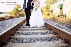 ALEXANDRA + BRIAN'S WEDDING, MARIETTA FIRST UNITED METHODIST CHURCH, MARIETTA BRICKYARD, MARIETTA, GEORGIA, bride's gown, Bel Fiore, Bride and groom, Black tie, bow tie, couples photos, real wedding, railroad