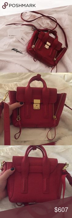 3.1 Philip Lim Pashli Mini Satchel REPOSH: purchased on here a couple months ago and have used it a few times, not enough for my liking so would like to pass it along. Was used more by the previous owner but honestly it is in such fabulous condition I would say it's almost brand new. Only flaw is a scratch on the gold clasp hardware. Let me know if you have any questions. 3.1 Phillip Lim Bags Crossbody Bags
