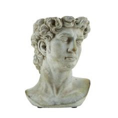 Roman Bust Planter | Plant Pots & Planters | England At Home Large Planters, Planter Pots, England Houses, Roman Sculpture, Laurel Wreath, Modern Bohemian, Flower Pots, Greenery, Display