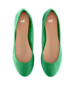 I'm obsessed with the idea of having green ballet flats for spring/summer. And these are only $12.95!