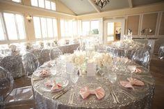 A Glamorous Silver & Blush Beach Wedding