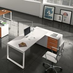 Γωνιακό γραφείο σε τρείς διαστάσεις Office Table Design, Office Desk, Corner Desk, Furniture, Workspaces, Yoga Pants, Home Decor, Studio, Offices