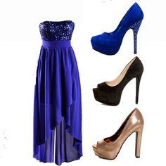 Con q zapatos combino un vestido azul