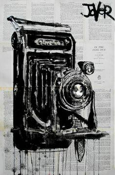 """Saatchi Online Artist Loui Jover; Drawing, """"vintage snapper"""" #art"""