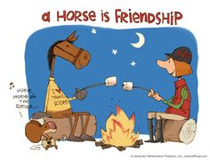 A horse is friendship. ©Kentucky Performance Products, LLC #horses