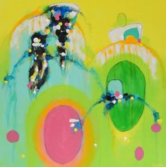 """""""Going Mobile"""" by Becky Roesler is a new #abstractpainting now available on Saatchi Art. See more of my work at www.beckyroeslerart.com."""