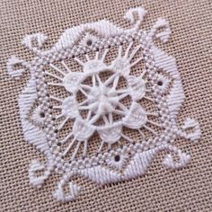 Hardanger Embroidery, Hand Embroidery Stitches, Drawn Thread, Sewing Rooms, Bargello, Sewing Notions, Antique Dolls, Blackwork, Needlepoint