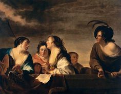 Jan Gerritsz van Bronchorst - A Concert. Jan Gerritsz van Bronckhorst , Bronchorst, or Bronkhorst (1603–1661) was a Dutch Golden Age painter and engraver. He is considered today to be a minor member of the Utrecht Caravaggisti. [Wikipedia]