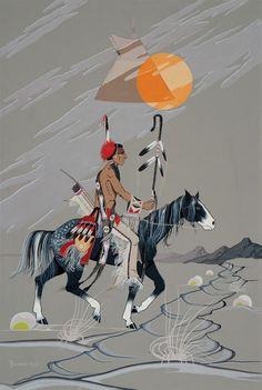 "*F. Blackbear Bosin* (Kiowa/Comanche, 1921 – 1980) ""Wind Song"""