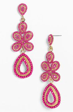 Tasha 'Ornate' Linear Statement Earrings