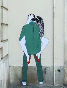 Provocative Street art by French artist Claire Streetart