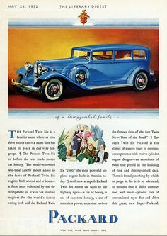 1932 Packard Twin Six Limo Advert