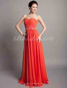 Sheath/ Column Chiffon Floor-length Sweetheart Evening Dress - $108.99