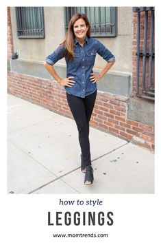 How to wear leggings. Tips for styling an outfit with leggings. Casual Fall Outfits, Summer Outfits, Fashion Over Fifty, How To Wear Leggings, Fall Fashion Trends, Mom Style, Leggings Fashion, Mom Fashion, Fashion Advice