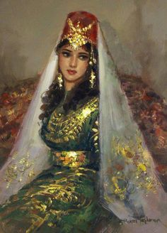 Крымская татарка, картина Ремзи Таскирана